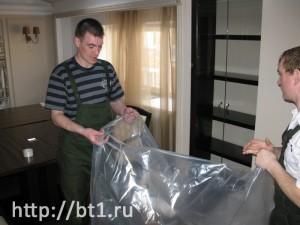 Упаковка мягкой мебели