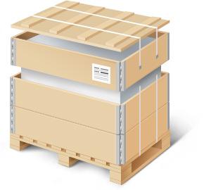 Упаковка в паллетный борт